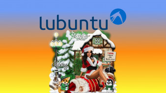 компьютеры, ubuntu linux, девушка, взгляд, фон, логотип