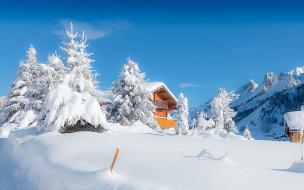 обои для рабочего стола 1920x1200 природа, зима, франция, france, rhone-alpes, clusaz