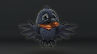 Crow baby, детская, воронёнок, арт, малыш, Vitaliy Blik