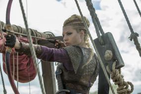 Katheryn Winnick, девушка, блондинка, воин, Vikings, актриса