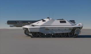 Future, Sci-Fi, Concept, Tank