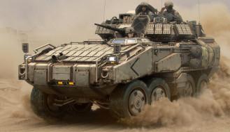 техника, военная техника, действие, пыль, движение, десантники, солдаты, военные, машина, броня, танк, война