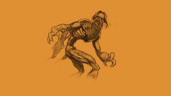 рисованное, комиксы, монстр, чудовище, зомби