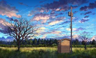 рисованное, природа, пейзаж
