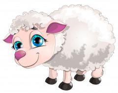 векторная графика, животные , animals, овечка
