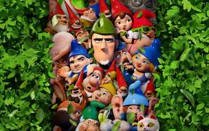 gnomeo & juliet,  sherlock gnomes, мультфильмы, juliet, sherlock, gnomes, gnomeo