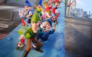 обои для рабочего стола 3840x2400 мультфильмы, gnomeo & juliet,  sherlock gnomes, gnomeo, juliet, sherlock, gnomes