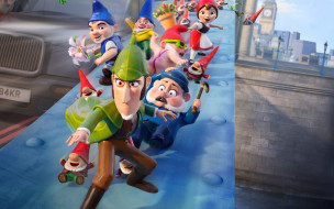 мультфильмы, gnomeo & juliet,  sherlock gnomes, gnomeo, juliet, sherlock, gnomes