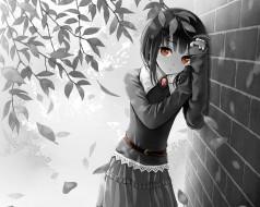 аниме, unknown,  другое , фон, взгляд, девушка