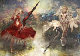 аниме, fate, stay night, grand, order