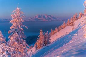 природа, пейзажи, снег, горы