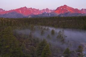 красота, осень, Kolyma, пейзаж, вид, река, край, туман, горы, природа, лес