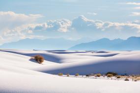 пейзаж, песок, Mexico, White, Sands, New, пустыня