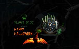 обои для рабочего стола 1920x1200 праздничные, хэллоуин, когти, часы