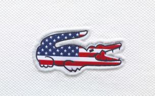 Lacoste, крокодил, сша, USA, флаг
