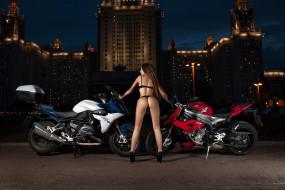 обои для рабочего стола 2560x1707 мотоциклы, мото с девушкой, bmw