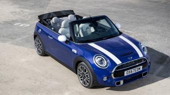 mini cabrio 2019, автомобили, mini, cabrio, 2019, blue