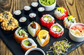 ассорти, роллы, кухня, японская