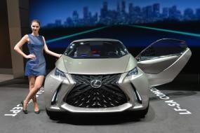 девушка, Lexus, автомобиль