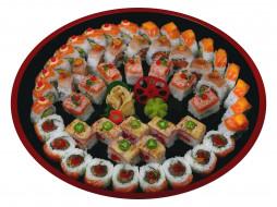 японская, кухня, роллы, имбирь, васаби, ассорти
