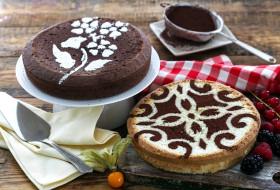 физалис, ягоды, торт