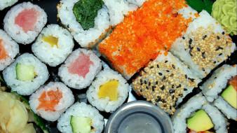 суши, роллы, ассорти, кухня, японская