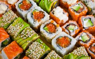 японская, кухня, суши, роллы, ассорти