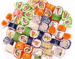 роллы, кухня, суши, ассорти, японская