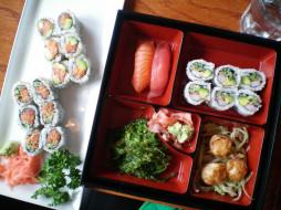 ассорти, японская, кухня, суши, роллы