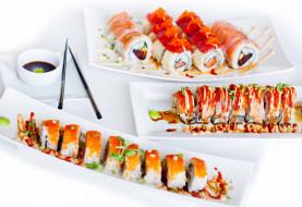 роллы, суши, японская, ассорти, кухня