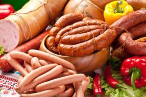 колбаса, сосиски, ассорти, перец