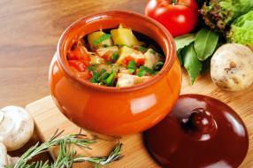 розмарин, рагу, овощи, горшочек