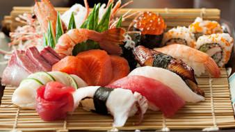роллы, кухня, японская, ассорти, суши