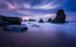 море, берег, камни, небо, скалы