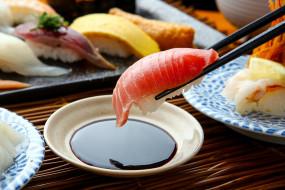 еда, рыба,  морепродукты,  суши,  роллы, японская, соус, суши, кухня