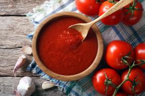 еда, помидоры, соус, чеснок, томаты