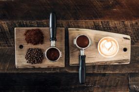 еда, кофе,  кофейные зёрна, капучино, зерна, молотый