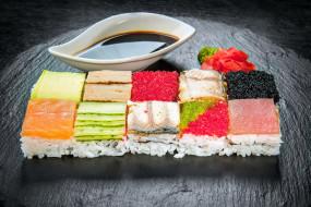 еда, рыба,  морепродукты,  суши,  роллы, японская, икра, рис, суши, кухня