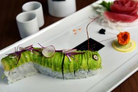 еда, рыба,  морепродукты,  суши,  роллы, роллы, рис