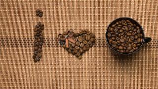 кофейные, рисунок, надпись, зерна