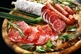 колбаса, ассорти, салями, розмарин