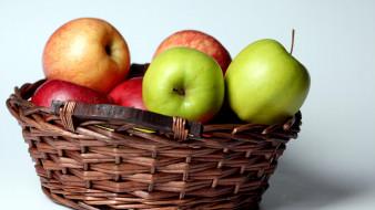 корзинка, яблоки