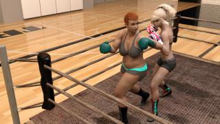 3д графика, спорт , sport, бокс, ринг, фон, взгляд, девушки