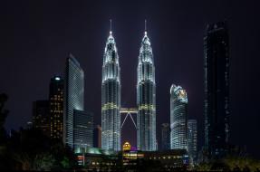 башни, близнецы, ночь