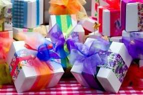 банты, подарки, праздник, коробки