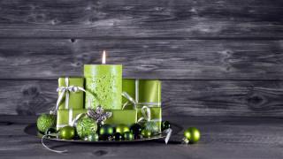 шары, подарки, свеча