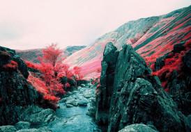 природа, горы, осень, вода