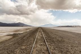 разное, транспортные средства и магистрали, железная, дорога, перспектива, ровнина