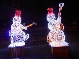 новогодние музыканты, разное, иллюминация, город
