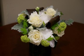 розы, букет, гортензия